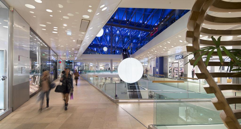 Centre commercial Confluence à Lyon - Clients : Vinci Energies, Citeos