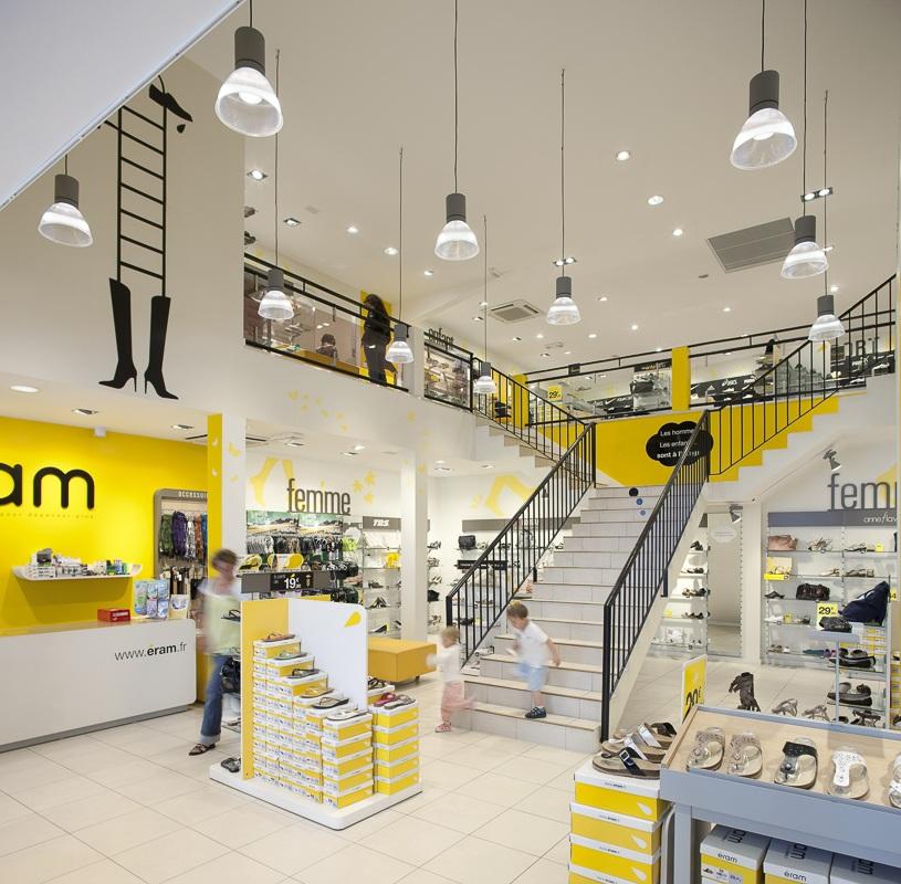 Magasin Eram à Vannes - Client : Philips Lighting
