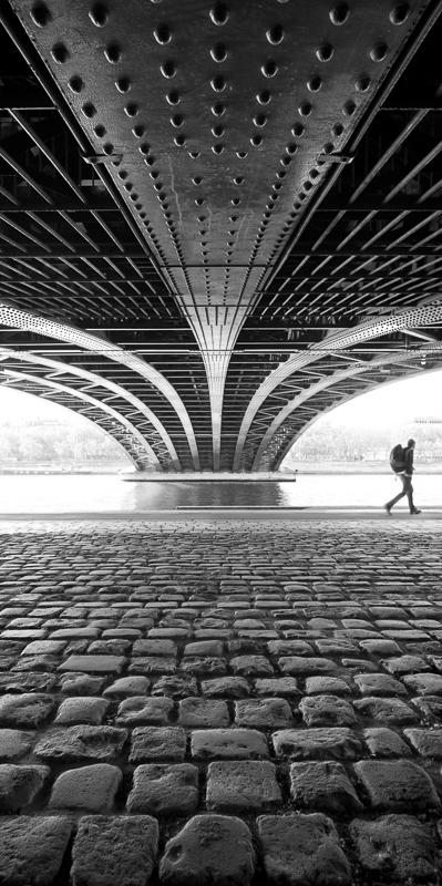 Pont de l'Université à Lyon - Travail personnel