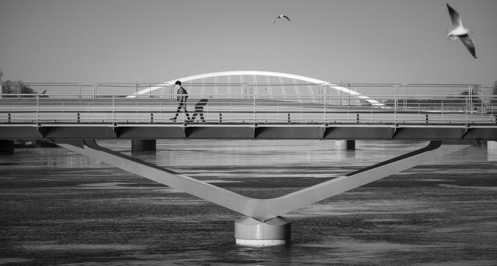 Pont des Arts et Métiers d'Angers - Client : Architectes Lavigne et Cheron
