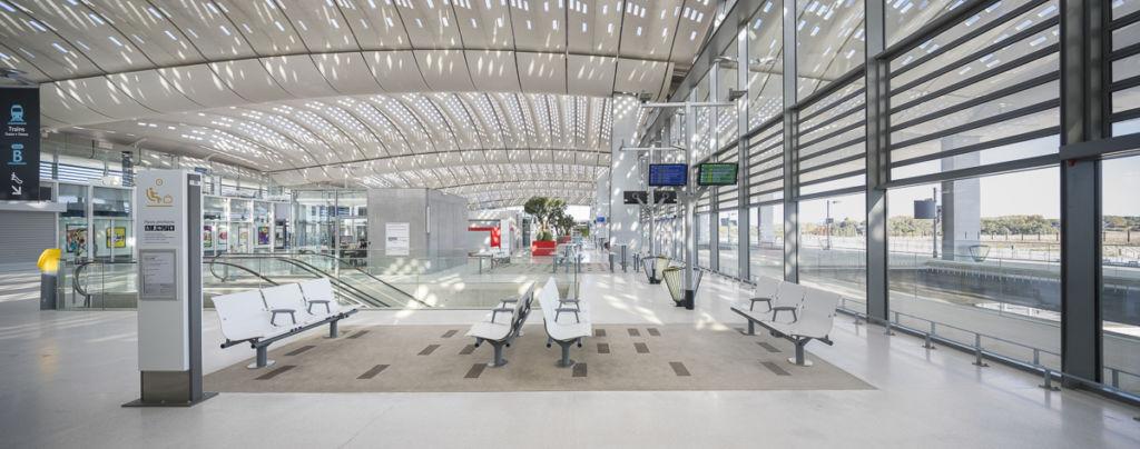 Gare TGV de Montpellier - Client : Kawneer
