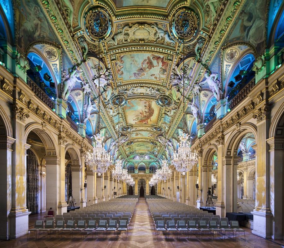 Salle de réception de la mairie de Paris - Client : Philips Lighting
