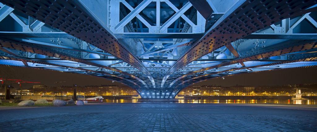 Pont Lafayette à Lyon - Client : Lumenpulse Conception Lumière : Ville de Lyon