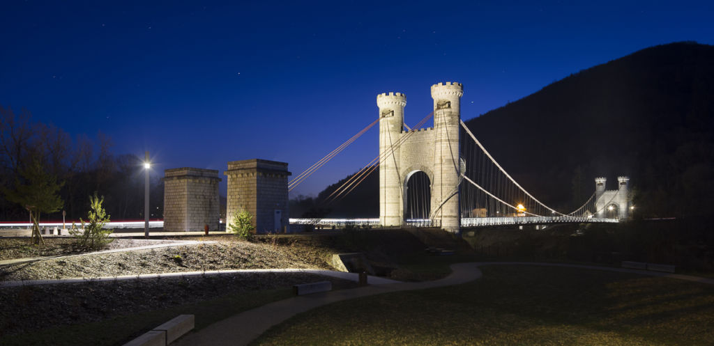 Ponts de La Caille à Cruseilles - Client : Lumenpulse - Conception Lumière : Les Eclairagistes Associés