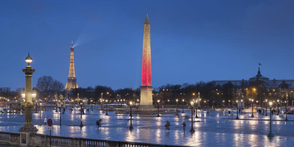 Place de la Concorde à Paris - Client Lumenpulse - Concepteur lumière : Xavier Bancquart