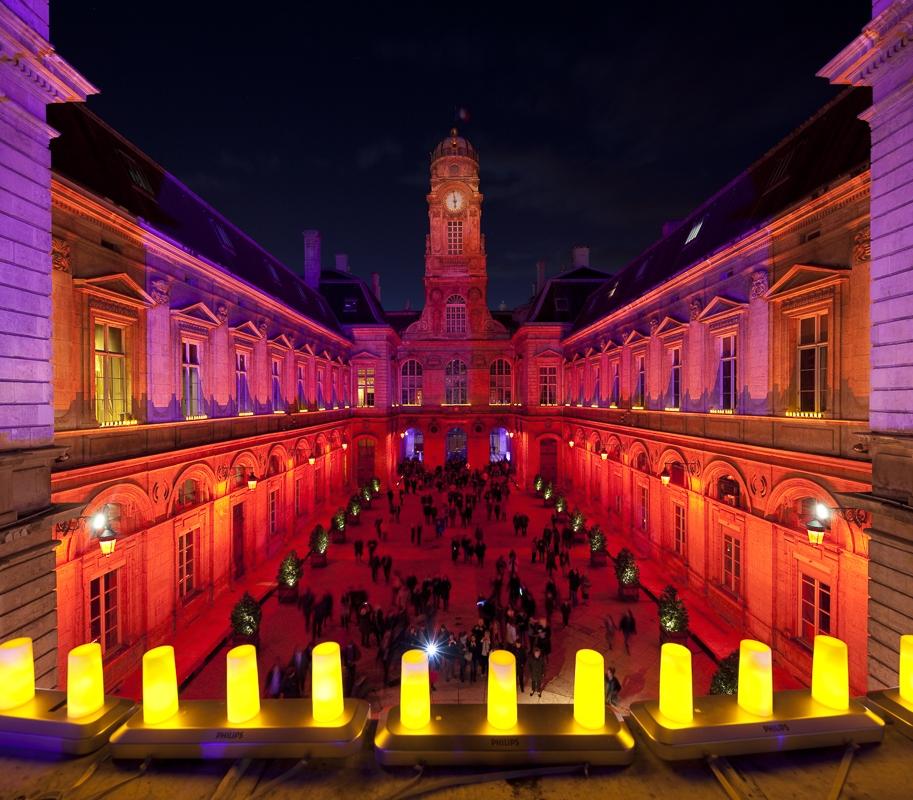 Hotel de Ville de Lyon, Fête des lumières - Client : Philips Lighting