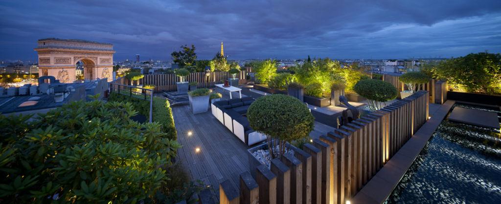 Terrasse jardin rue de la Grande Armée à Paris - Client : TUP