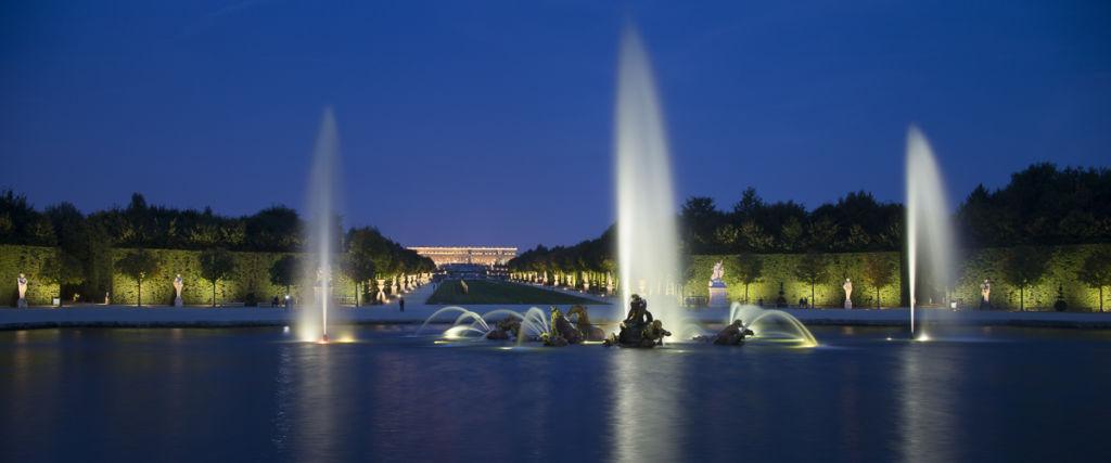 Reportage éclairage des jardins du chateau de Versailles