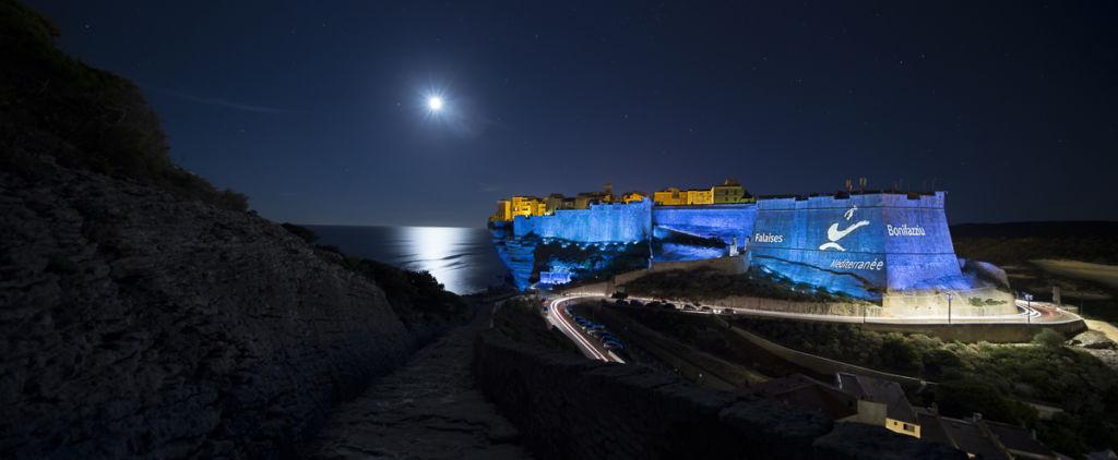 Citadelle de Bonifacio  Conception lumière : Régis Clouzet, L'Agence Lumière