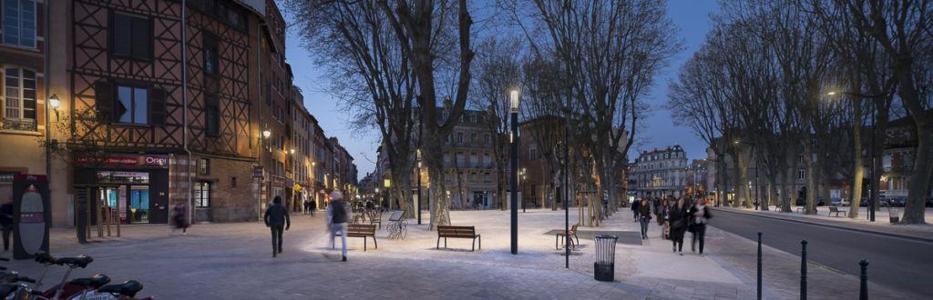 Place du Salin à Toulouse - Client :  Les Eclairagistes Associés.