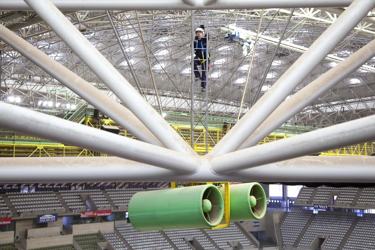 Maintenance sur installations Olympiques de Barcelone - Client: Spie