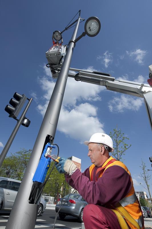 Maintenance sur éclairage public à Lyon - Client : Citeos