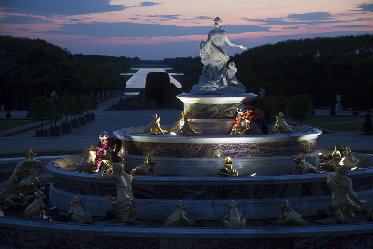 Travaux sur éclairage des fontaines du château de Versailles - Client : Citeos
