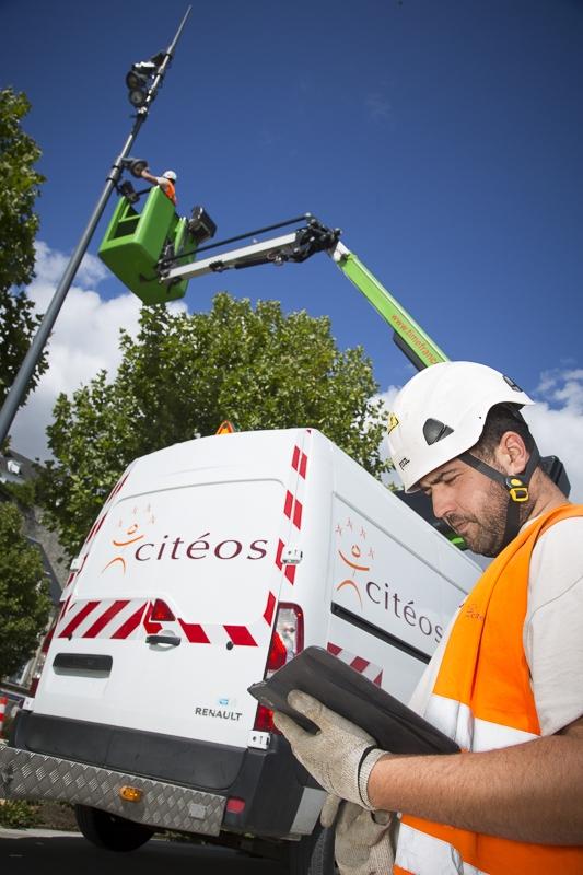 Maintenance sur éclairage public dans le cadre du PPP de Cergy Pontoise - Client : Citeos