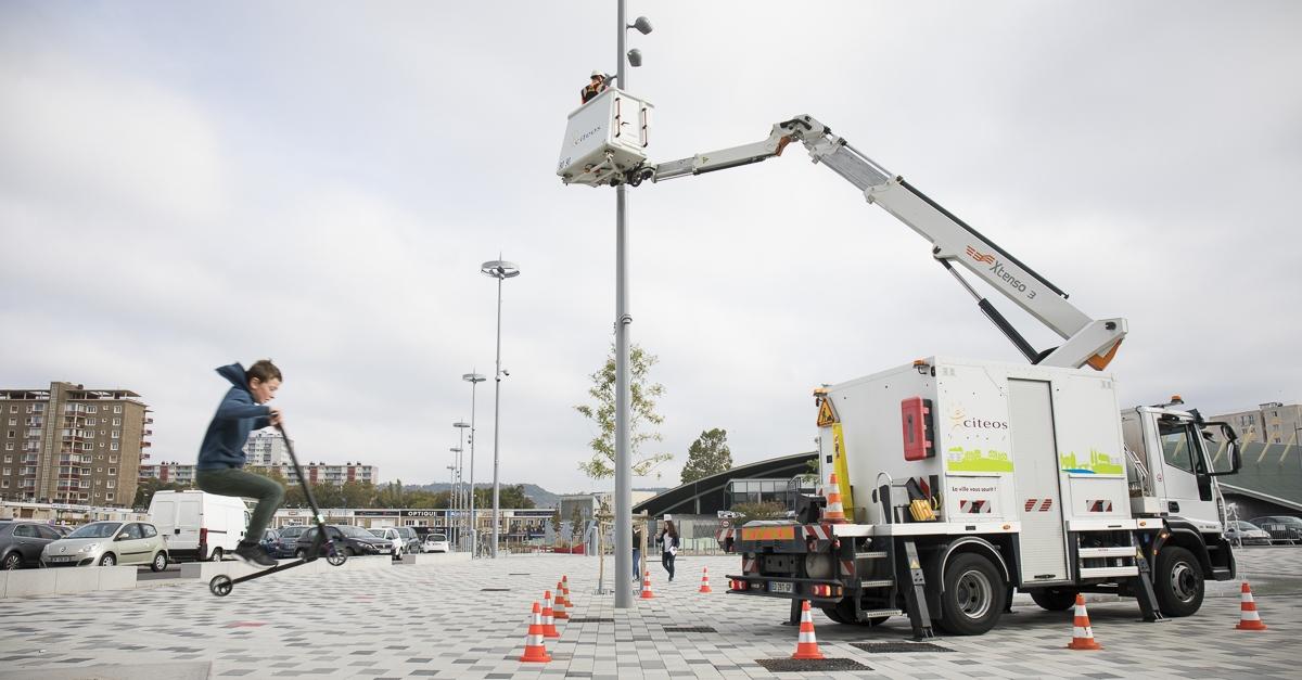 Maintenance sur éclairage public à Sotteville les Rouen - Client : Citeos