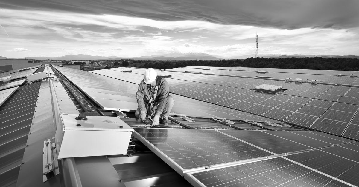 Reportage chantier photovoltaïque à Perpignan - Client : Spie