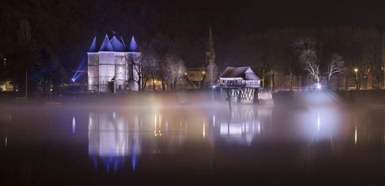 Tourelles et Vieux Moulin de Vernon - Client : Citeos - Concepteur lumière : Lyum